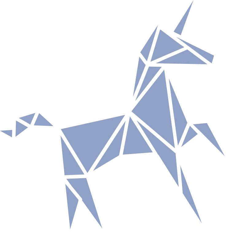 an oragami unicorn in the spirit of Video47